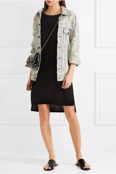 T by Alexander Wang - Classic Jersey Mini Dress - Black - medium