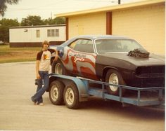 PartingOut.com founder bringing home a 426 Wedge Cuda in 1981