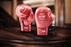Boxing Gloves - Mockup by VectorMedia on @creativemarket