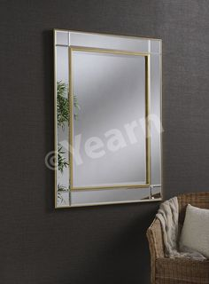 Gold glass frame Milan mirror - ideal for any contemporary home decor Gold Glass, Glass Art, Gold Trim Walls, Art Deco Spiegel, Art Deco Mirror, Wall Mirror, Contemporary Home Decor, Oversized Mirror, Modern