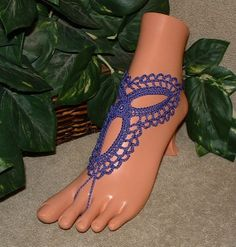 Crochet Infinity Violet Majestic Barefoot by gilmoreproducts33, $15.00