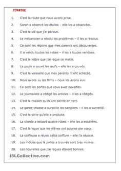 102 Best French - Grammar (Passé Compose) images | French class ...