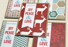 My holiday cards this year, simple and striking.  They can be yours too!  Red and Blue Graphic Holiday Card Set by Bluebuttonpress on Etsy,
