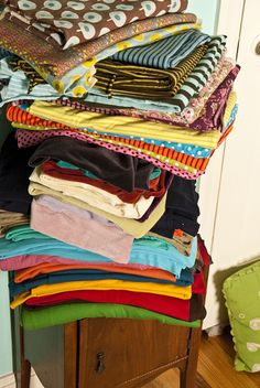 USA  pile of knit fabric by sew liberated, via Flickr