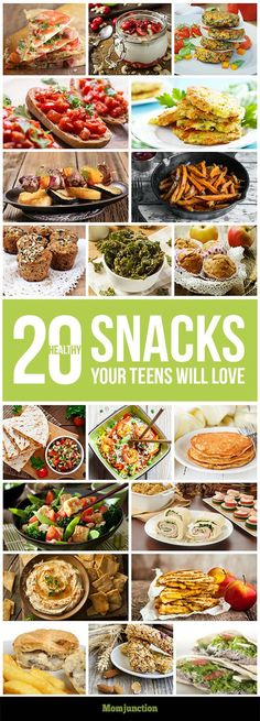 20 Easy And Healthy Snacks For Teens: here are 20 healthy snacks that will make you and your teen happy.