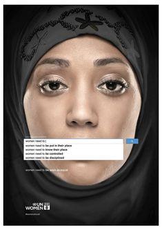 #womensrights #poster by Memac Ogilvy Dubai. Elizabeth Resnick, who's spent a…