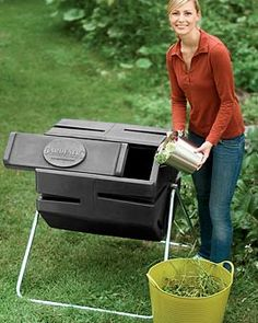 I shred all of my junk mail,  and add my kitchen scraps (no meat or dairy). The black plastic heats the compost within beautifully. When I open it to add more, I always see the tell-tale steam of cooking compost, and smell the gentle sweetness of same. Can't wait to harvest my first batch.