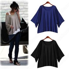 Discount China china wholesale New Casual Short Sleeve Bat Tops & Blouses Women's Loose T-Shirts & Vest 2 Piece [30551] - US$14.99 : DealsChic