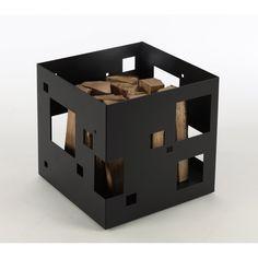 Porte buches en acier poxy forme casier chocolat 50x56x95cm design porte bu - Panier a buches design ...