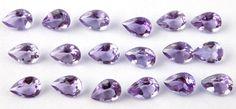 25 Pcs Lot Natural Purple Brazil Amethyst 5X7mm Pear Normal Cut Loose Gemstone #SUMITGEMS