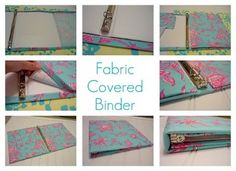 25 Craft Projects for $1 or less from The ReStore   Plus how to cover a binder with fabric fabric covered binder