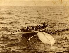 Survivors in a lifeboat not full...