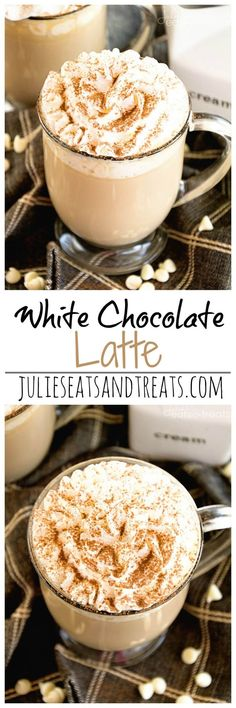 White Chocolate Latte Recipe ~ Delicious, Easy, Homemade White Chocolate Latte Recipe that Will Have You Sipping Lattes Whenever You Want! #Coffeedrinks