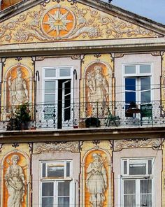 Old building, ancient ceramic tiles. #Lisbon #Portugal by Jo McLure