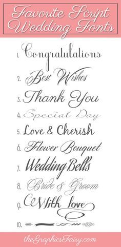 Favorite Script Wedding Fonts - The Graphics Fairy