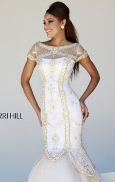 Embellished Mermaid Gown by Sherri Hill 21369
