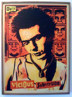 Sid Vicious - Shepard Fairey   Canvas Print 2001
