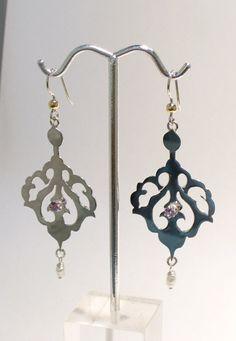 Earrings,Sterling Silver, Amethyst, Pearl, $120.00 https://www.etsy.com/listing/97960159/jewelry-silverearrings-calling-pierced