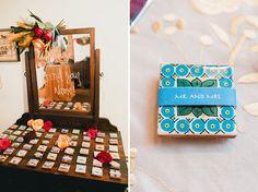 custom wedding tile favor