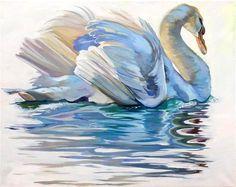 "Daily Paintworks - ""Swan Song"" - Original Fine Art for Sale - © Lauren Kuhn"