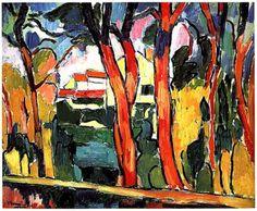 Paysage aux arbres rouge (1906) Maurice de Vlaminck.