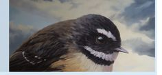 Piwakawaka - The New Zealand Fantail from an exhibition by Jane Sinclair Bird Song Nz Art, New Zealand, Songs, Bird, Animals, Animales, Animaux, Birds, Animal