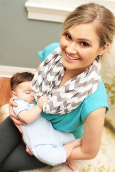 This is just cool! A nursing cover disguised as an infinity scarf. Thinking of making one... A new product for moms puts nursing and bonding with baby in a new era of chic.