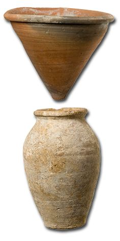 Jar and funnel for sugar production 1300–1400 ceramic excavated at Kouklia by German Archaeological Institute