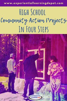 A community action project is a project-based learning experience where students choose a community issue of interest to them and take action. They are self-directed and interest-led. They can be around a theme or completely open-ended. Check out how to implement community action project with your high school students. #projectbasedlearning #servicelearning Brainstorming Activities, Teaching Strategies, Teaching Ideas, First Year Teachers, New Teachers, School Community, Community Service, Science Topics, Experiential Learning