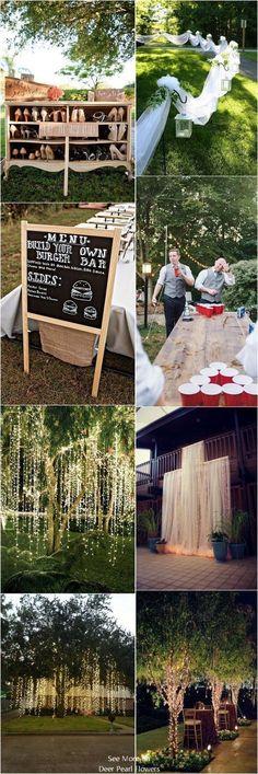 Intimate Backyard Outdoor Wedding Decor Ideas #backyardwedding #outdoorwedding #countrywedding #weddingdecor ❤️http://www.deerpearlflowers.com/intimate-backyard-outdoor-wedding-ideas/ #outdoorweddingceremonies #outdoorweddingideas #weddings #weddingideas #weddingdecorations