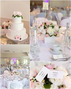 Beautiful pink and white wedding details at Monkey Island wedding