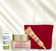 CLARINS - Extra-Firming Day Treatment Set. From 495.00 - 1,145.00. August 2013, Free Gifts, Theatre, Ted, Glamour, Tote Bag, Bags, Beauty, Handbags