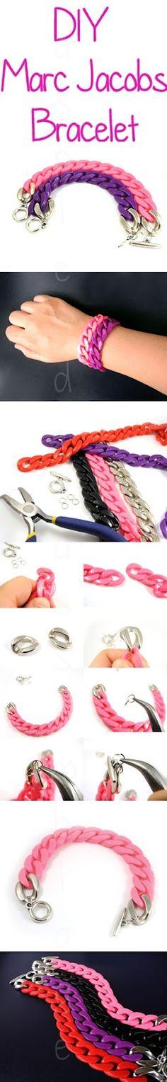 DIY: Marc Jacobs Inspired Chunky Curb Link Bracelet
