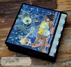 #G45Album - Sun Kissed Album & Tutorial We have a Sun Kissed Mini Album video tutorial to share with you today by the one and only, Magda Cortez! Magda's tutorial is so versatile and can be replicated with any Graphic 45 collection.