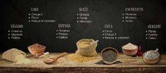 Conozca la funcionalidad de cada una de nuestras semillas: chía, amaranto, lino y maíz