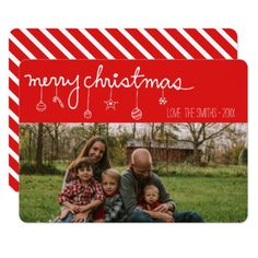 Merry Christmas Ornament Holiday Photo Card - Xmascards ChristmasEve Christmas Eve Christmas merry xmas family holy kids gifts holidays Santa cards