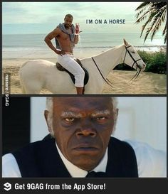 Why is he on a horse?