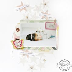 I see a scrap-lift in my future of this cute 12x12 scrapbook layout (with blue, of course)