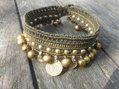 Gypsy Tribal Macrame Anklet Bracelet Necklace by MagicKnots