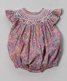 This Purple Paisley Angel-Sleeve Bubble Bodysuit - Infant & Toddler by Smock Candy is perfect! #zulilyfinds