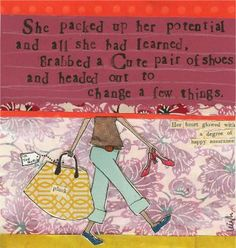 Curly Girl Design Greeting Card - Packed Up Her Potential - INPCreative