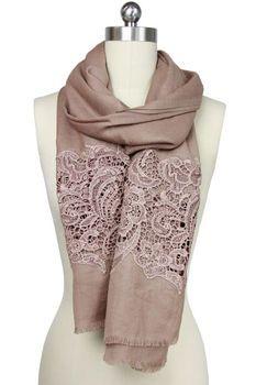 Bronze Lace Wool Wrap