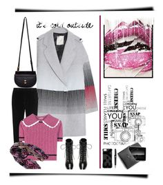 """""""IT'S COLD OUTSIDE"""" by emcf3548 ❤ liked on Polyvore featuring Marco de Vincenzo, Chloé, Miu Miu, Yves Saint Laurent, Y-3, Montblanc and Pieces"""
