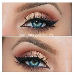 Makeup for Green Eyes 100+ Ways How to Make Green Eyes Pop ❤ liked on Polyvore featuring beauty products, makeup, eye makeup and eye look