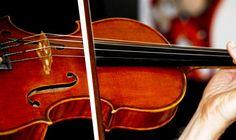 My husband playing his violin