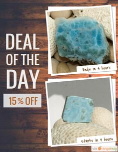 Today Only! 15% OFF this item. Follow us on Pinterest to be the first to see our exciting Daily Deals. Today's Product: Dominican Larimar Caribbean Azure AAA quality raw rock blue lapidary rough display collector pectolite dolphin stone 181g 905ct Buy now: https://orangetwig.com/shops/AABCLyV/campaigns/AABpt9J?cb=2015011&sn=MyBeachStore&ch=pin&crid=AABpt8o&exid=224220623