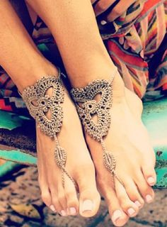 barefoot sandals! @Megan Ward Ward Ward Scanlon, I think these would be cute for your beach wedding! :)