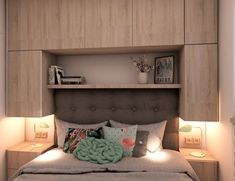 Exposed Brick Apartment, Bedroom Loft, Floating Nightstand, Malaga, Sweet Home, Storage, Table, House, Furniture