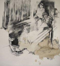 Magdalena Lamri - Les choses restent 2013 40x50 Pencil on paper