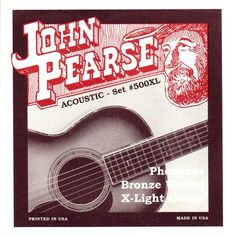 John Pearse P500XL Bronze Acoustic Guitar Strings Extra Light * Check out the image by visiting the link.Note:It is affiliate link to Amazon. #Guitar